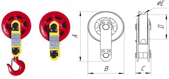Блоки монтажные - предназначены для комплектования грузоподъемных механизмов с ручным приводом. Блоки применяются при производстве монтажных, строительных и такелажных работ в качестве подвесных блоков, направляющих блоков (отводных, оттяжных и т.д.), поддерживающих блоков (для ограничения провеса канатов), элементов полиспастных устройств и т.п.