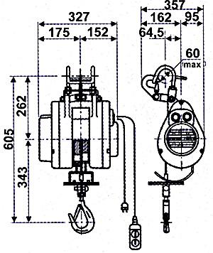 Электрическая мини лебедка HXS