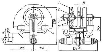 Тележка неприводная ТШН-1 Механизм передвижения тали электрической