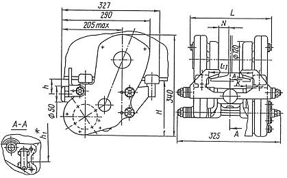 Тележка приводная ТШП-1-2 Механизм передвижения тали электрической
