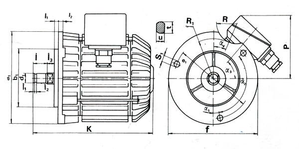 Электродвигатели передвижения серии (А) без тормозом и серии (KKТ) с встроенным тормозом